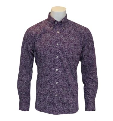 CAMISA RELCO SPOTTED PAISLEY PURPLE