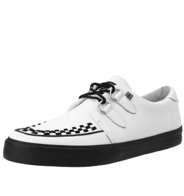 T.U.K WHITE LEATHER D-RING VLK SNEAKER