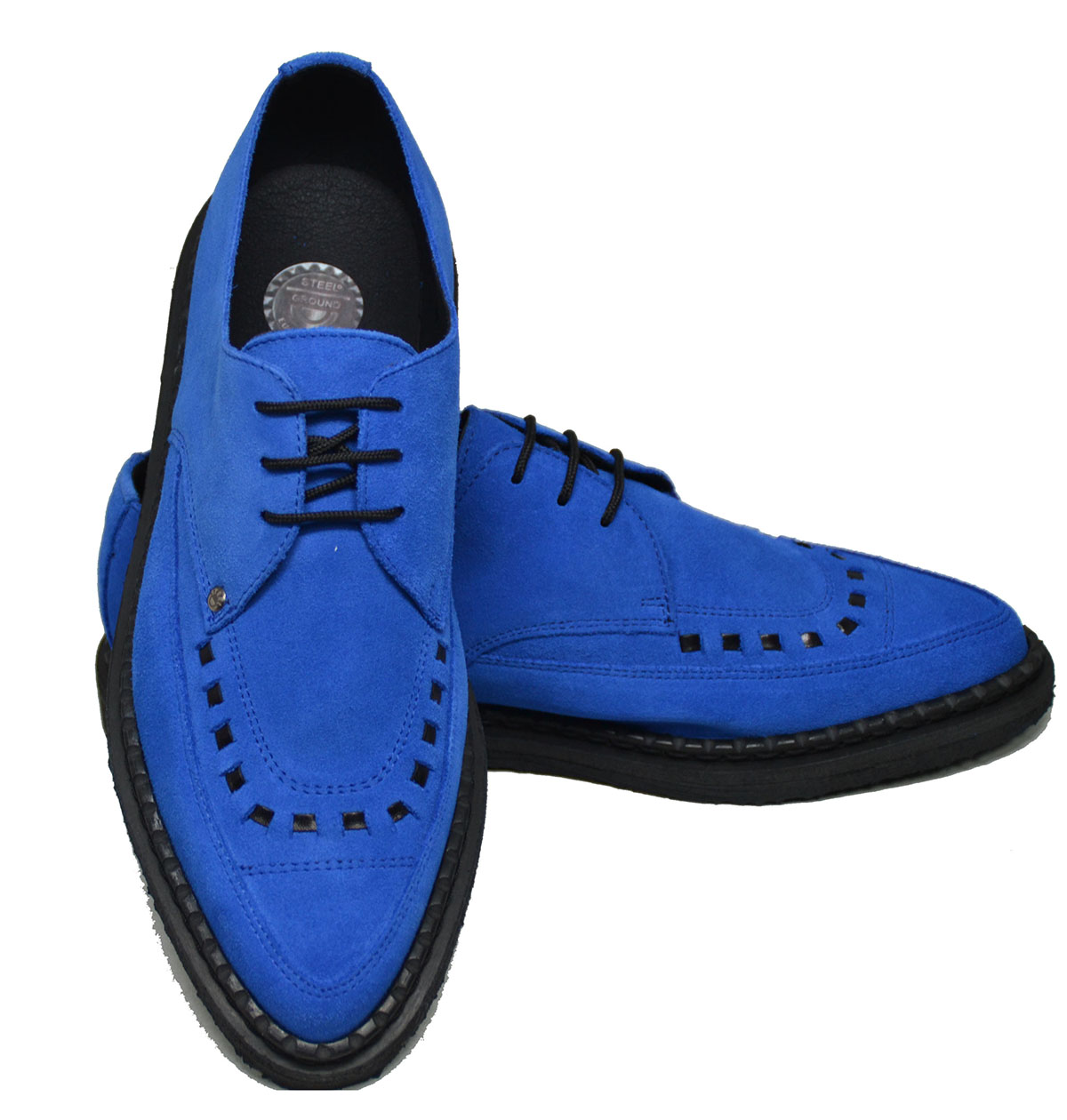 how to wear blue suede shoes