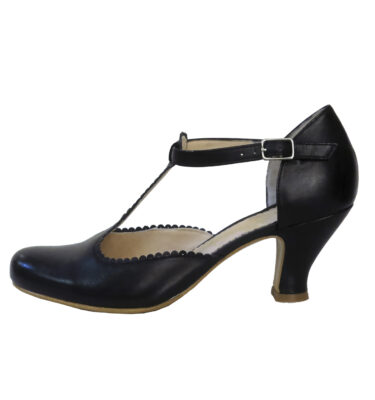 "ZAPATO ""ANA MONSALVE"" T-BAR RETRO MILI NEGRO"
