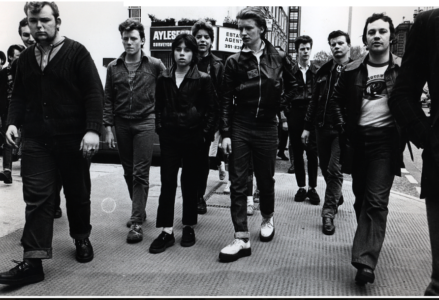 Teddy Boys con zapatos creepers