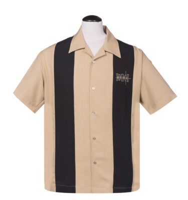 CAMISA STEADY BOWLING SIMPLE TIMES BUTTON UP IN TAN