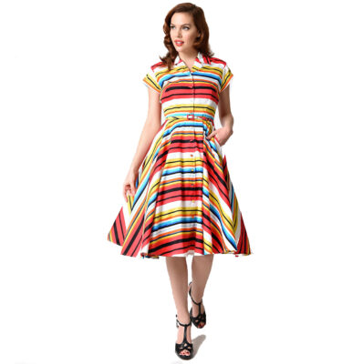 VESTIDO UNIQUE VINTAGE 1950s STYLE DEL REY SHIRTDRESS