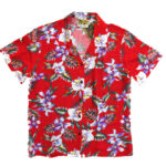 CAMISA HAWAIANA CHICA WINNIE FASHION ALOHA ORCHID RED