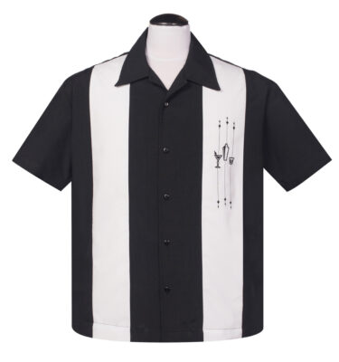 CAMISA STEADY BOWLING THE SHAKE DOWN BUTTON UP IN BLACK AND WHITE