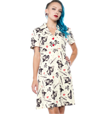VESTIDO SOURPUSS SWASHBUCKLER ROSIE DRESSVESTIDO SOURPUSS SWASHBUCKLER ROSIE DRESS
