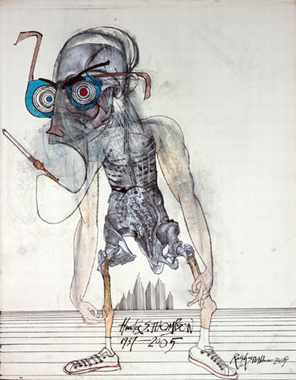 Retrato de Hunter S. Thompson por Ralph Steadman