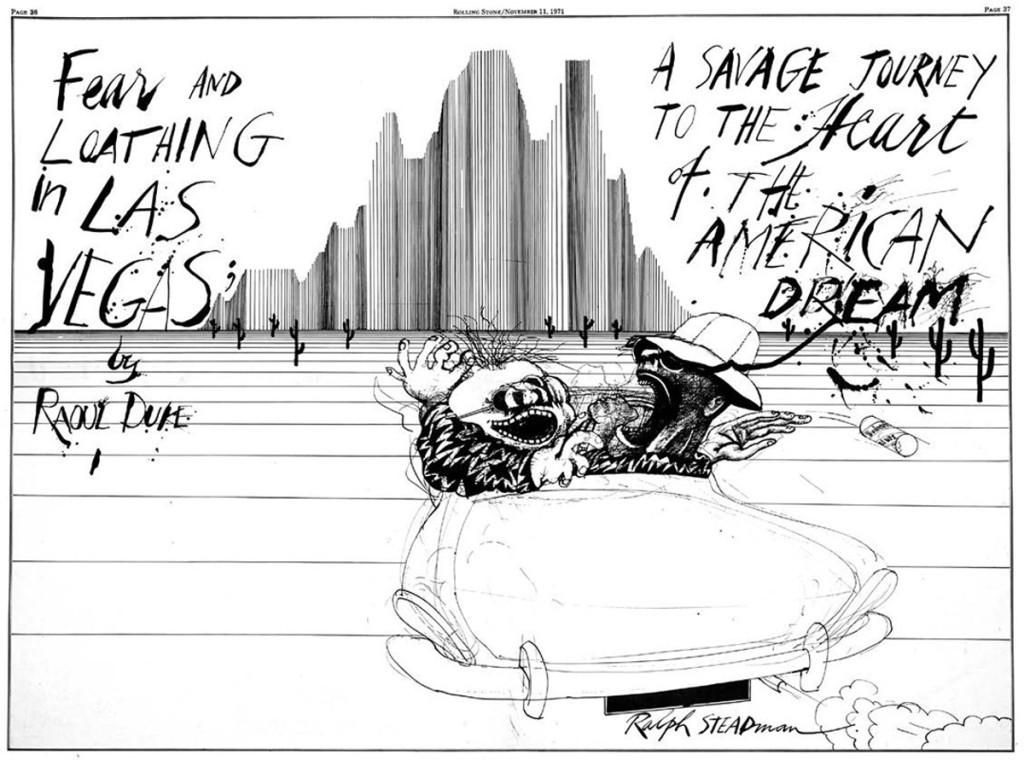 Ilustración de Ralph Steadman para Miedo y Asco en las Vegas