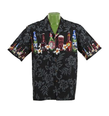 CAMISA HAWAIANA WINNIE FASHION BEER BOTTLES