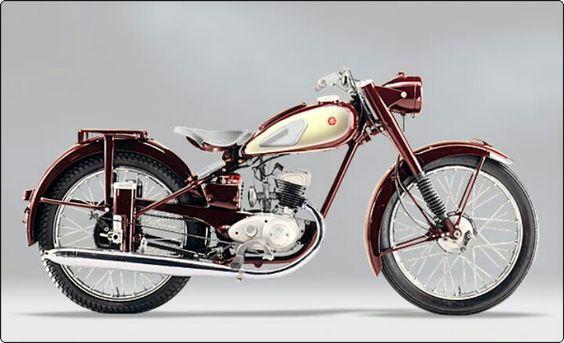 La Libélula roja (YA-1) de Yamaha, 1954