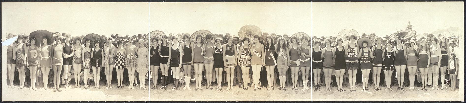 Concentración de trajes de baño en 1925