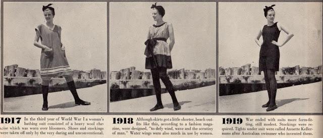 Evolución del traje de baño en la revista Life