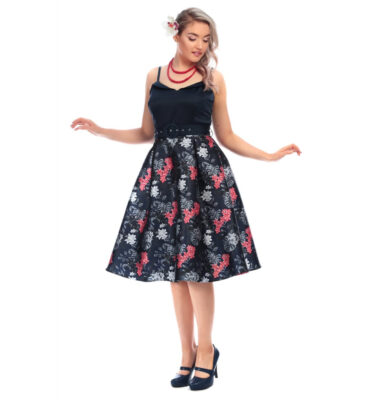 VESTIDO COLLECTIF VINTAGE BETTY TROPICAL FLORAL SWING