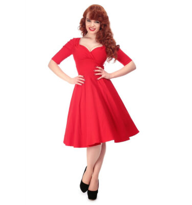 VESTIDO COLLECTIF MAINLINE TRIXIE DOLL RED