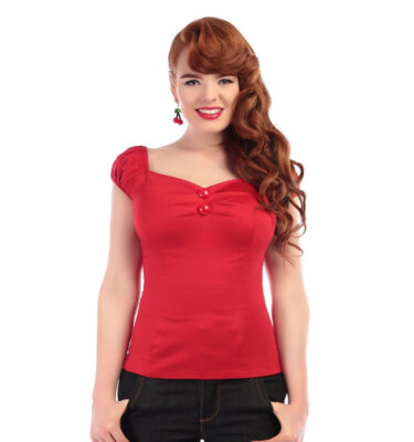 TOP COLLECTIF COLLECTIF MAINLINE DOLORES TOP PLAIN RED