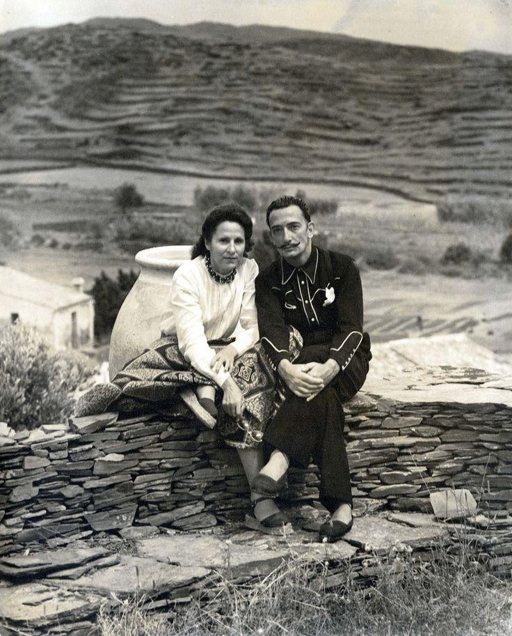 Gala y Dalí con camisa western