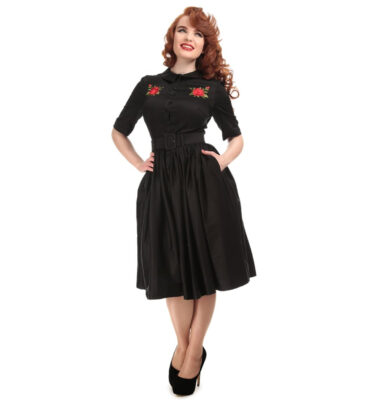 VESTIDO COLLECTIF VINTAGE ARIA ROSE EMBROIDERY SHIRT