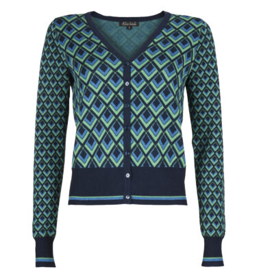 CAZADORA KING LOUIE CARDI V SUNSET GREEN