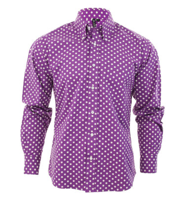 CAMISA RELCO POLKA DOT PURPLE