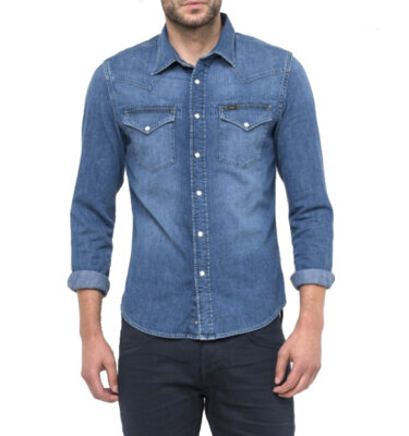 CAMISA LEE WESTERN SHIRT IN BLUE RINSE