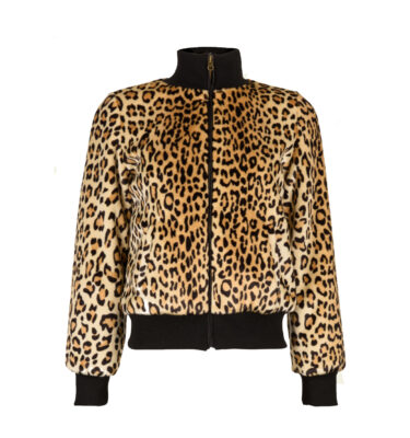 CAZADORA KING LOUIE RIB COLLAR JACKET LEOPARD