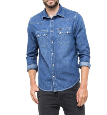CAMISA LEE RIDER SHIRT IN RENEGADE BLUE