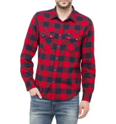 CAMISA LEE RIDER SHIRT IN RED RUNNER