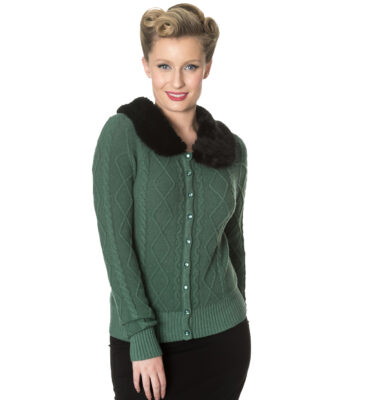 CARDIGAN DE PUNTO BANNED LETS PARTY FAUX FUR KNIT