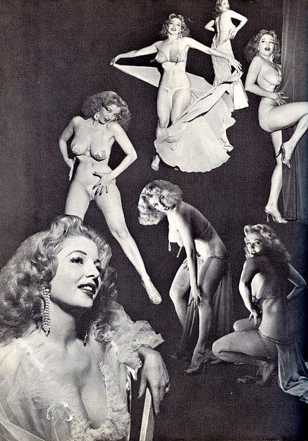 Cartel burlesque vintage