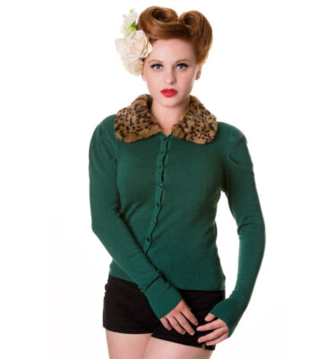 CARDIGAN DE PUNTO BANNED FUR CARDIGAN BOTTLE GREEN