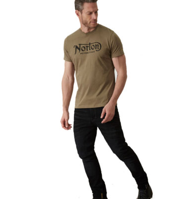 CAMISETA NORTON MORTORCYCLES SURTEES T-SHIRT ARMY GREEN