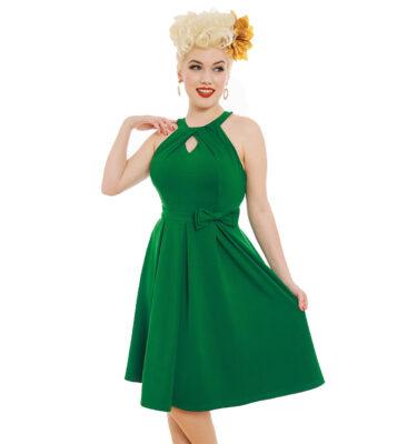 VESTIDO LINDY CHEREL' GREEN SWING DRESS