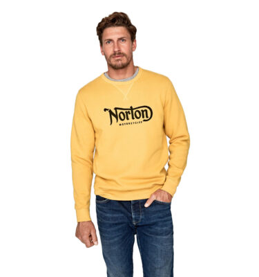 SUDADERA NORTON MORTORCYCLES FASTBACK SWEATS OCHRE YELLOW