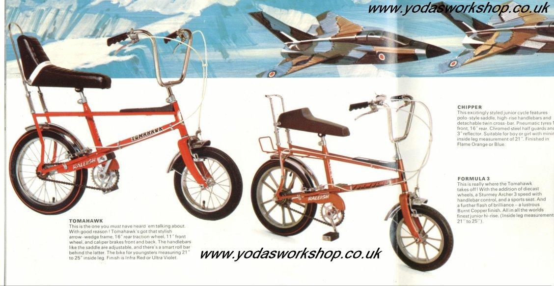 Los modelos para peques de Chopper, Tomahawk y Chipper