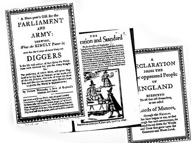 Textos de Los Diggers originarios del siglo VXII
