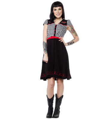 VESTIDO SOURPUSS TATTOO ROSES LINE DANCE
