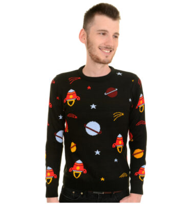 JERSEY RUN & FLY KITSCH RETRO ROCKET OUTER SPACE