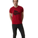 CAMISETA NORTON MORTORCYCLES WHEELER T-SHIRT RACE RED