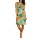KING LOUIE GINGER DRESS MAMBO FOREST GREEN