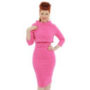 VESTIDO LINDY BOB MAYBELLE BUBBLEGUM PINK JACQUARD TWIN SET