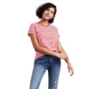 CAMISETA LEVI'S® THE PERFECT POCKET TEE POINSETTIA CLOUD DANCER STRIPE