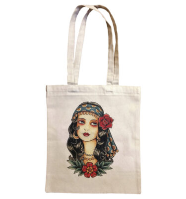 BOLSA GYPSY GIRL TOTE BAG OLD SCHOLL TATTOO