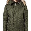 PARKA POP RETRO 70s CLASSIC - COLOR VERDE OLIVA