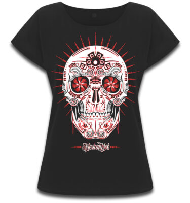 CAMISETA MEXICAN MOB CATRINA PEYOTE LOCO CHICA