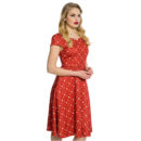 VESTIDO LINDY BOP BARBARA ANN TERRACOTTA FLORAL DAY DRESS