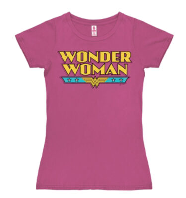 "CAMISETA LOGO SHIRT ""WONDER WOMAN"" ROSA FUCSIA"