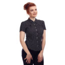 CAMISA COLLECTIF VINTAGE AVERY POLKA DOT BLOUSE