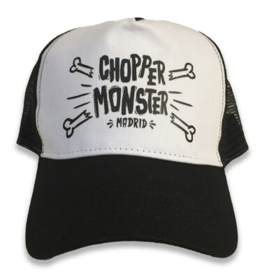 "TRUCKER CAP ""HUESETES"" CHOPPER MONSTER NEGRA"