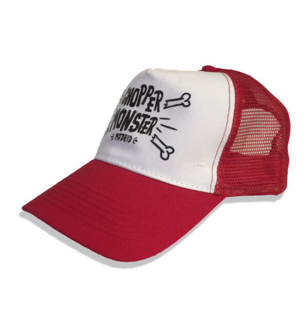 "TRUCKER CAP ""HUESETES"" CHOPPER MONSTER ROJA"
