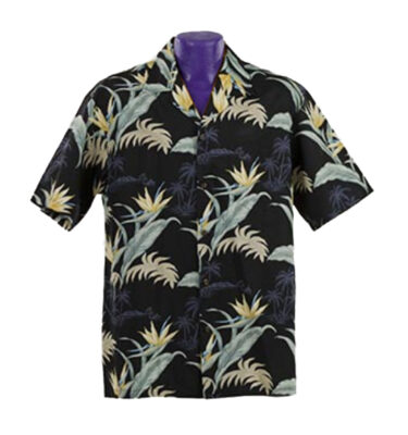 CAMISA HAWAIANA WINNIE FASHION BIRD OF PARADISE ALL OVER